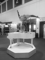 Dancing piano performance